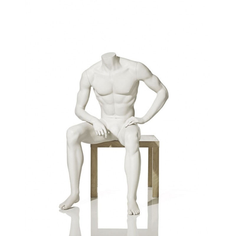 MALE MANNEQUIN – HEADLESS - SITTING – HINDSGAUL